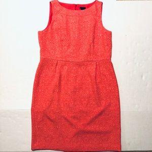Ann Taylor Sheath Dress Career Coral Plus Size 16